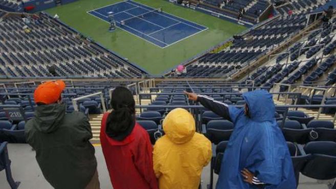 Lluvia en el Us Open de tenis.