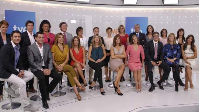 Los principales rostros de TVE para la temporada 2011-2012.