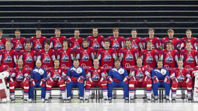 El equipo de hockey que viajaba en el avión siniestrado.