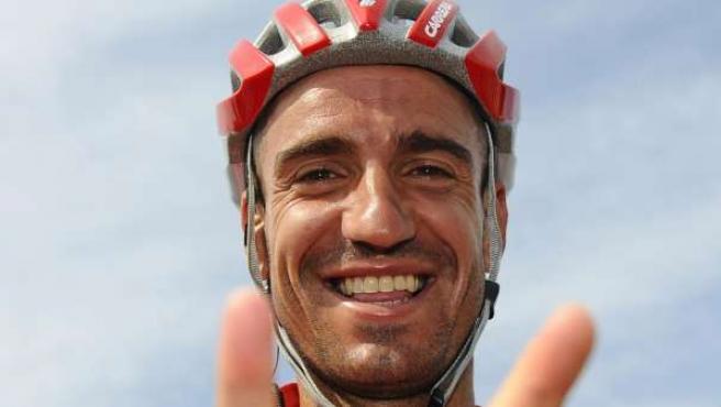 Juan José Cobo, en la Vuelta.