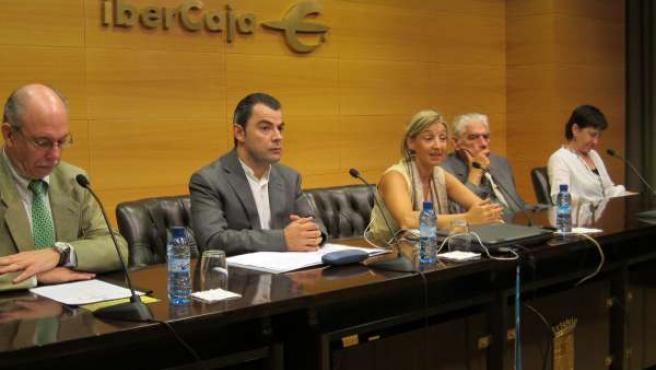 Carlos Fernández-Jáuregui, J. Lambán, Teresa Fernández, E. Custodio Y T.Carcelle