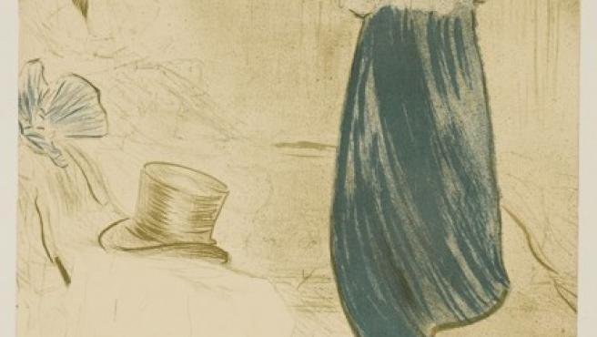 Portada de Tourlouse - Lautrec para la publicación parisina 'Elles'