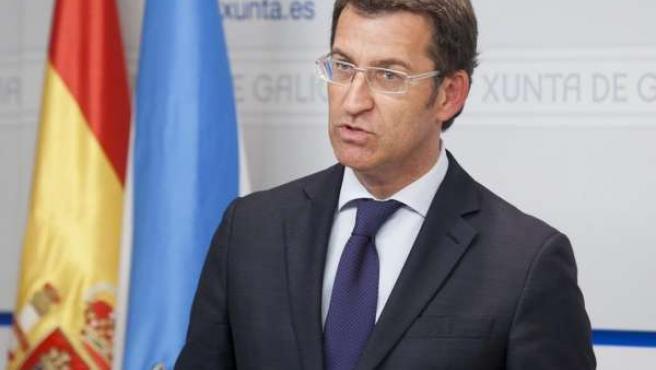 Alberto Núñez Feijóo, En Rueda De Prensa, Tras El Consello De La Xunta