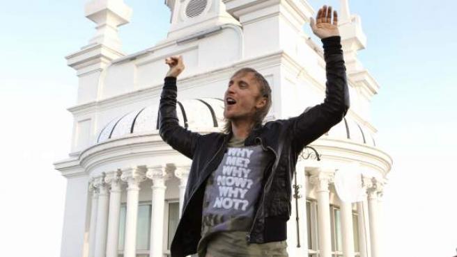 El DJ francés David Guetta durante la presentación de su último trabajo, Nothing but the beat.