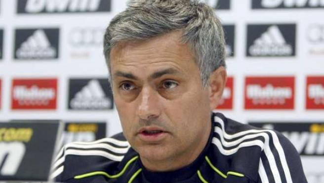 José Mourinho, entrenador del Real Madrid, en rueda de prensa.