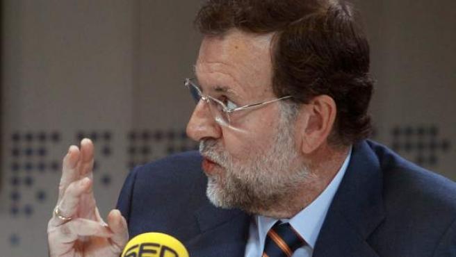 Mariano Rajoy, en la Cadena Ser.