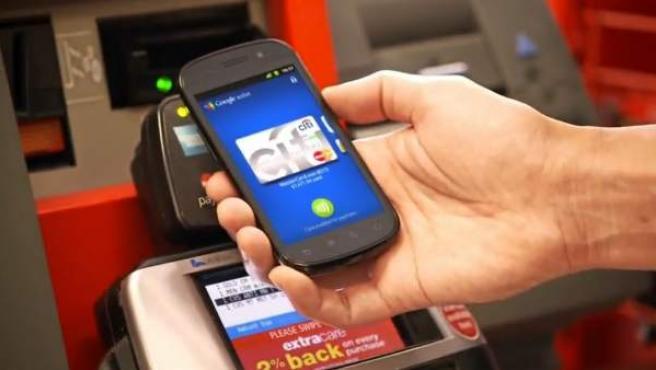 Demostración del funcionamiento de Google Wallet.