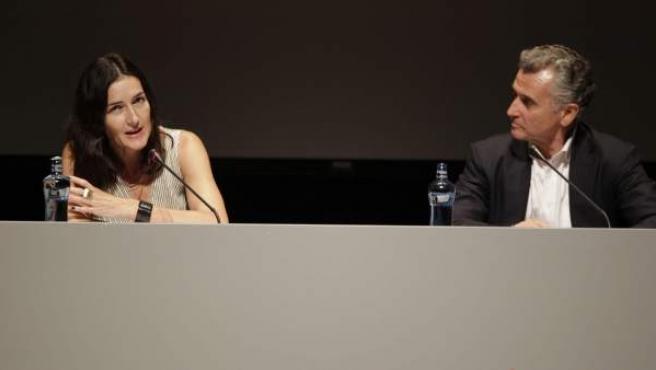 """La ministra de Cultura, Ángeles González-Sinde, en el congreso internacional """"Sitios Megalíticos y la Convención del Patrimonio Mundial""""."""