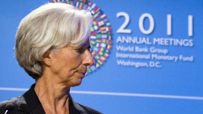 La directora general del Fondo Monetario Internacional (FMI), Christine Lagarde, en Washington.