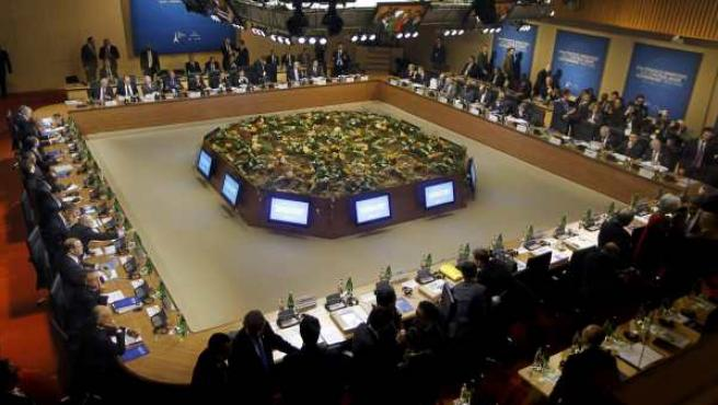 Reunión de ministros de Finanzas del G-20 en París, en unan imagen de archivo.