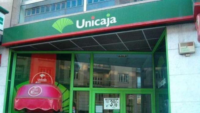 Imagen de una sucursal de Unicaja