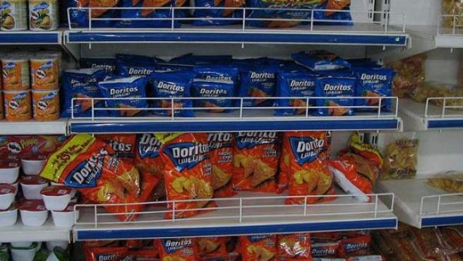 Unas bolsas de Doritos en un supermercado