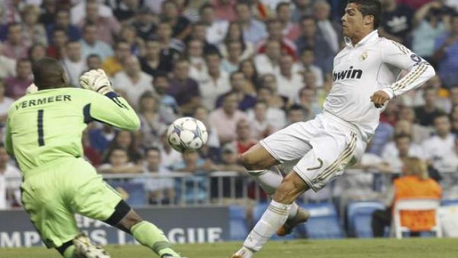 Cristiano, ante el Ajax.