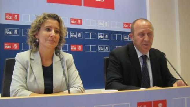 Aina Calvo Y Andreu Alcover En La Sede Del PSIB.