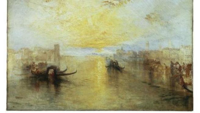 Óleo tardío del inglés J.M.W Turner, que en la fase final de su vida antepuso en su obra la luz a la forma