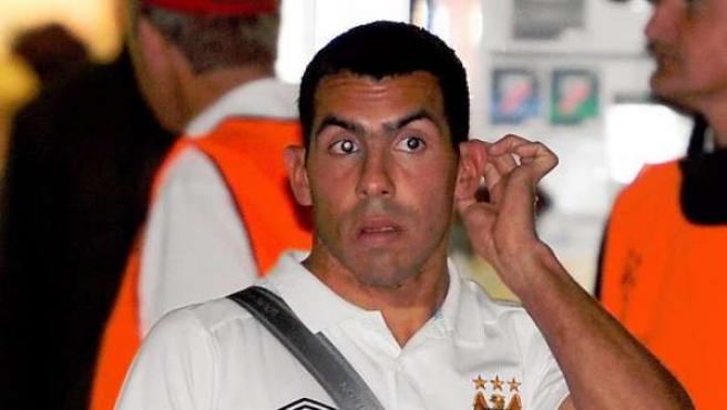 El jugador del Manchester City, Carlos Tévez.