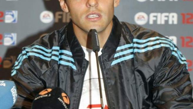 Kaká, en la presentación de un videojuego.