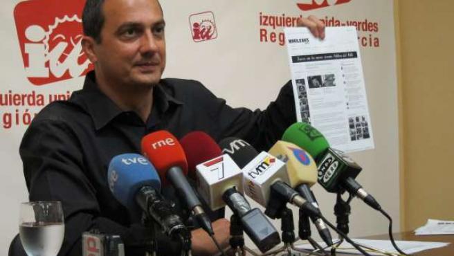El Coordinador De IU-Verdes En La Región De Murcia, José Antonio Pujante