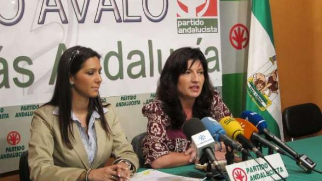 Secretaria General Del PA, Pilar González, Junto A Candidata Del PA Al Congreso