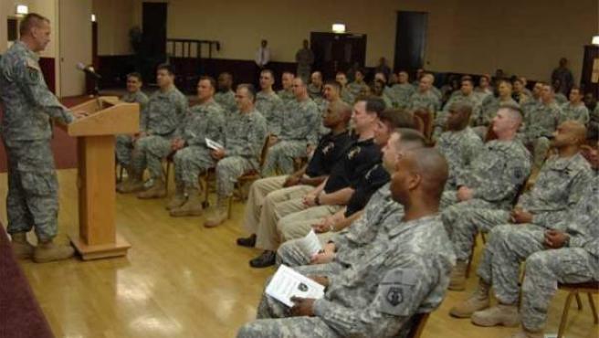 Un grupo de soldados estadounidenses.
