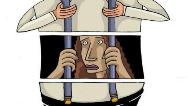 La violencia machista, según el ilustrador Eneko.