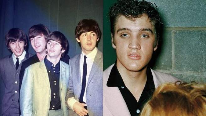 Los Beatles y Elvis Presley.