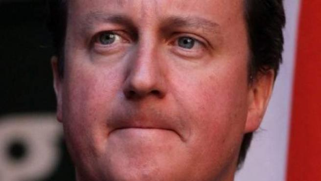 El primer ministro británico, David Cameron, durante una rueda de prensa en Pretoria (Sudáfrica), este lunes.