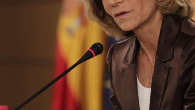 La Ministra De Economía, Elena Salgado