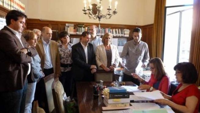 Presentación De Las Listas Del PSPV Al Congreso Y Al Senado Por Alicante.