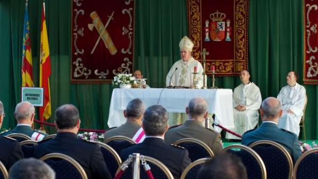 Monseñor Osoro Preside La Misa De La Guardia Civil.
