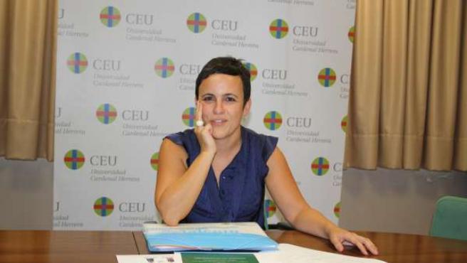 La Profesora De Magisterio Del CEU De Elche Inmaculada Hurtado.