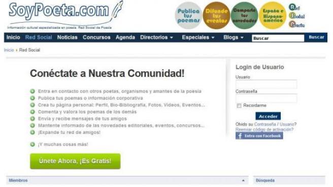 Busca fomentar la lectura, la escritura y el intercambio de poesía en castellano.
