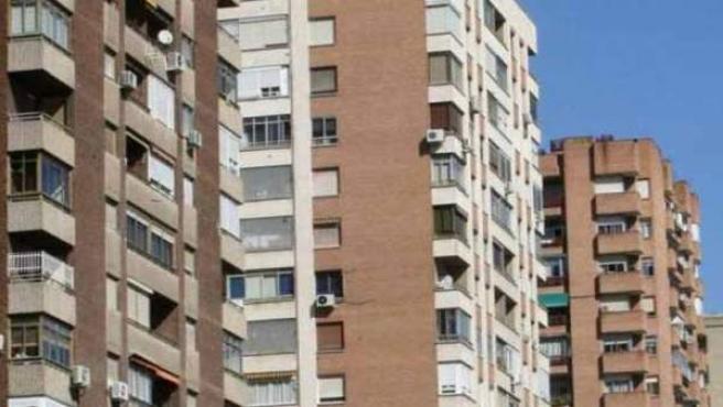 Bloques de viviendas en altura.