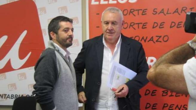 Cayo Lara Y Jorge Crespo, En La Sede De IU