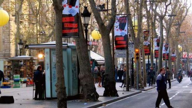 Las Ramblas de Barcelona.