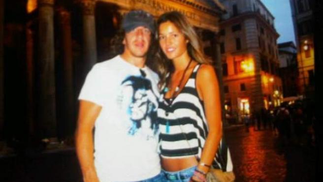 Carles Puyol y su novia, Malena Costa, en Roma.