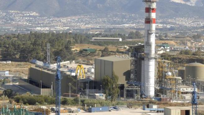 Una planta de gas natural en Málaga.