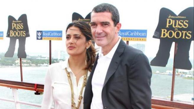 Antonio Banderas y Salma Hayek presentan la película \'El ...