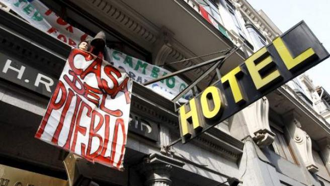 Imagen del 'okupado' Hotel Madrid.