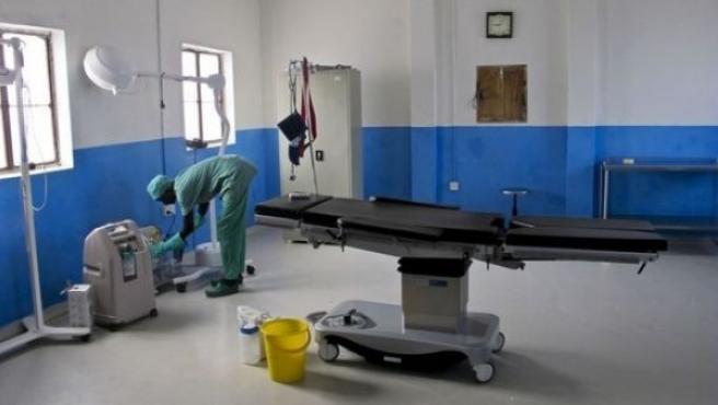 Imagen de la sala de un hospital.