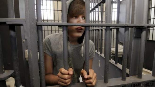 Imagen de Justin Bieber en la cárcel creada para la campaña 'Free Bieber'.