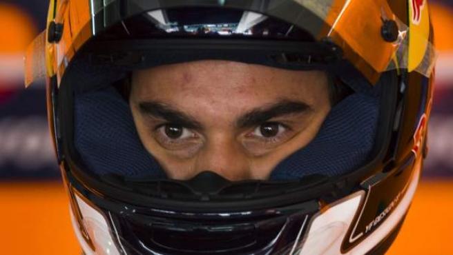 Dani Pedrosa, piloto de Honda, durante el Gran Premio de Malasia.