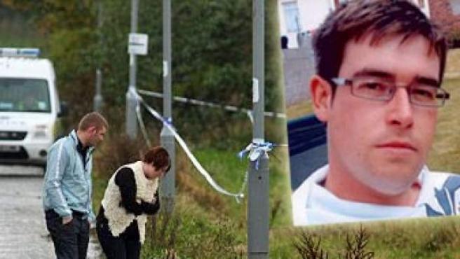 Lugar en el que fue encontrado el cuerpo de Stuart Walker.