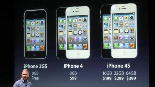 Presentación del iPhone 4S.