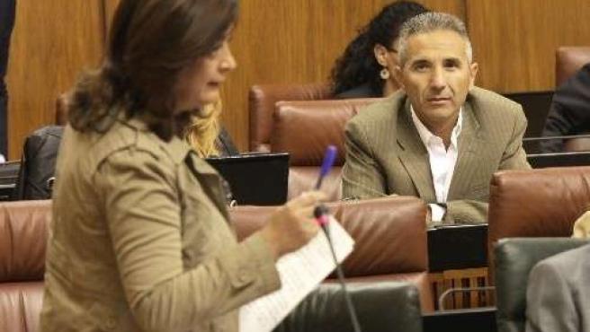 Mar Moreno, En El Pleno Del Parlamento
