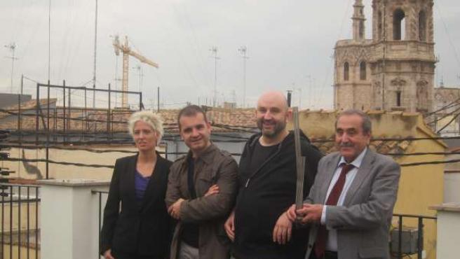 Gemma Aguilera, Jord Llavina, Daniel O'hara Y Eliseu Climent En Premis Octubre