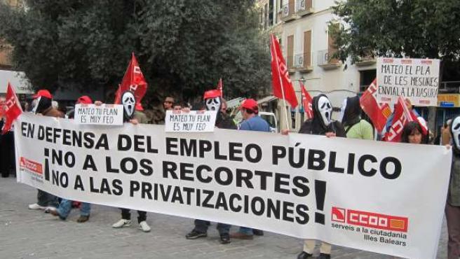 Manifestación CCOO En Palma