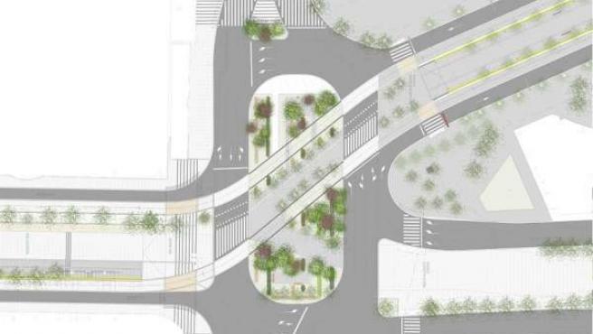 Propuesta De Plaza Paraíso Con Tranvía