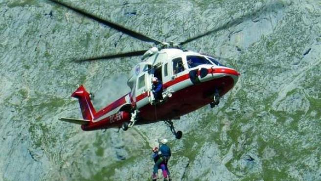 Rescate Helicóptero 112 Cantabria