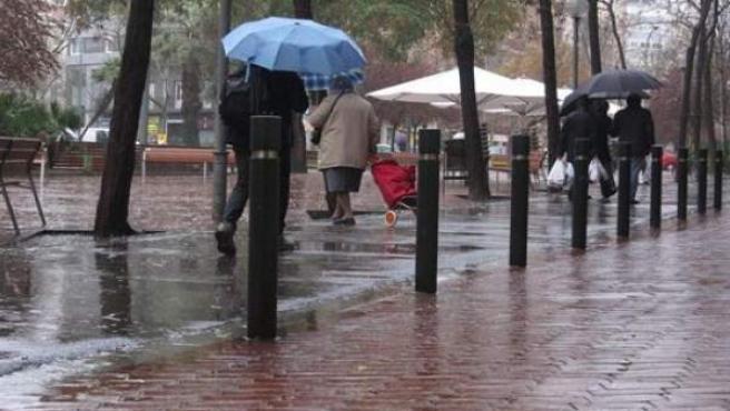 LLuvias en Barcelona.